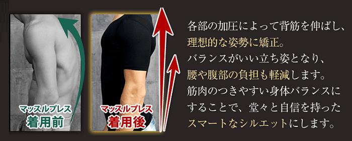 加圧インナーシャツで背筋が伸びる