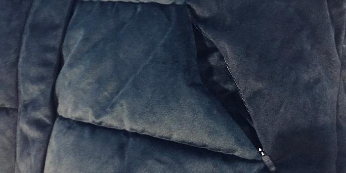 マイプロテインクロップドベロアパッファーのポケット